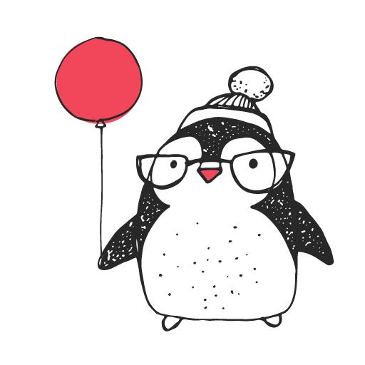 родословную пингвин с шариком картинка таких